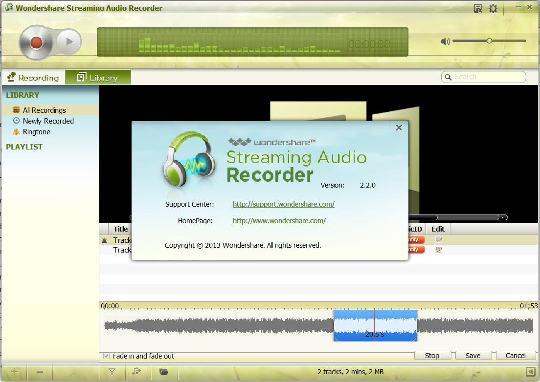 Wondershare Streaming Audio Recorder 2017