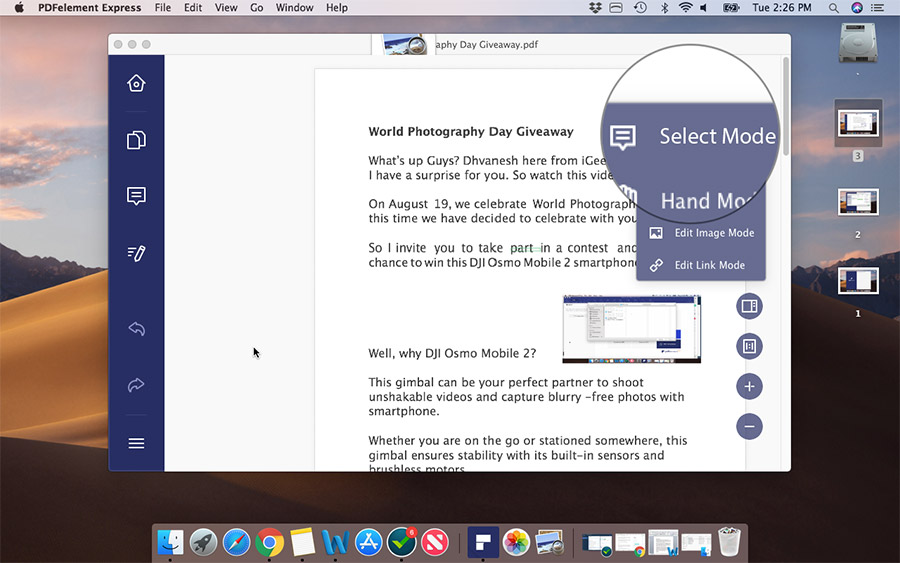 PDFelement Express for mac