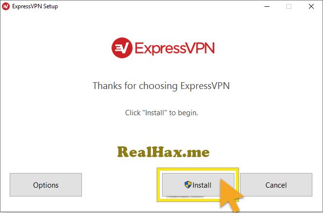 Express VPN windows start installation